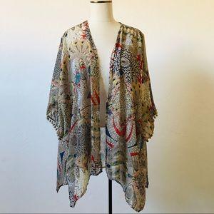 Boho Printed Sheer Kimono/Duster
